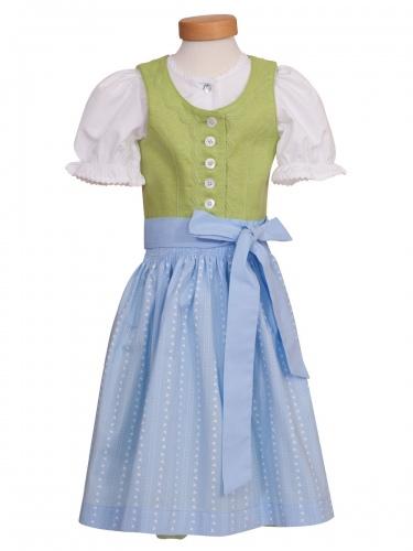 Hammerschmid Bergsee Kinder-Dirndl, kiwi-hellblau, mit Bluse