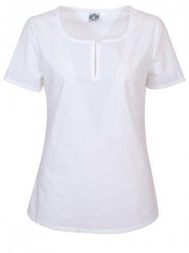 Hammerschmid T-Shirtbluse Liane weiß, in sich mit Karos gemustert