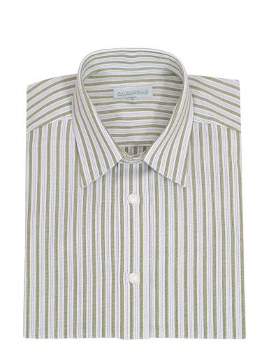Waldorff Trachtenhemd, Pfoad, grün-blau gestreift, Liegekragen