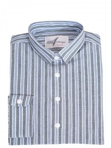 Arzberger Baumwollhemd, grün-blau, gestreift, Pfoad