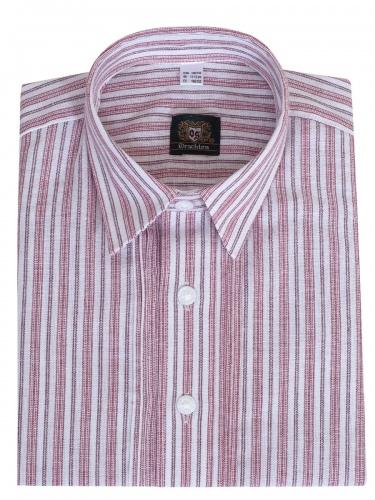 Orbis Kinderhemd rot-weiß gestreift mit Riegel