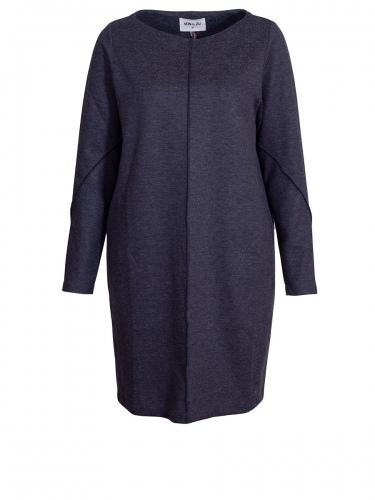 Von & Zu O-Shape Jerseykleid, blau-grau, leger
