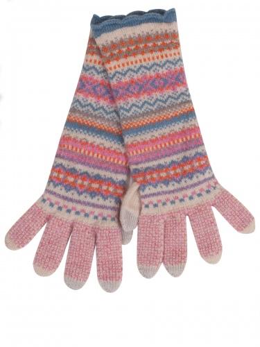 Eribè Knitwear Glove Alpine, Strickhandschuhe, nougat, rosa