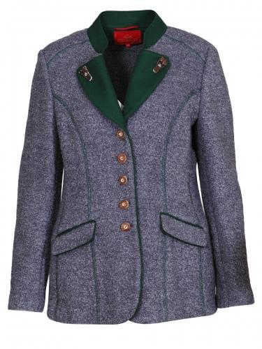 Kaiserjäger Damen-Walkjacke, grau, Reverse, lang