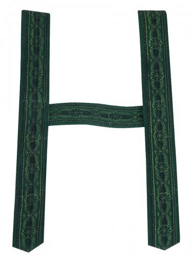 Träger Handdruck in tanne, 6 cm breit, ohne Zacken