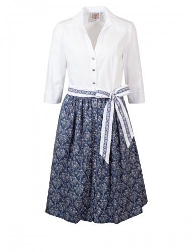 Berwin & Wolff Sommerkleid, weiße Bluse, dunkelblauer Rock