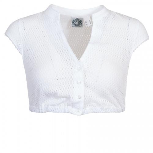 Hammerschmid Shirt-Dirndlbluse Heidi, Lochmuster, kleine Arme
