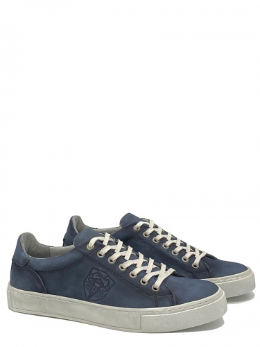 Xaver Luis Leder Sneaker Bene, navy, dunkelblau, sportlich