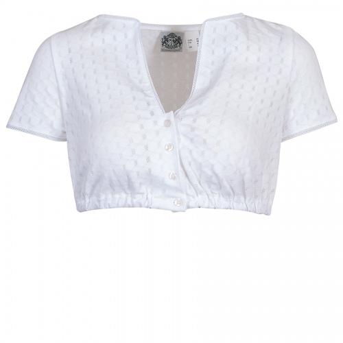 Hammerschmid Shirt-Dirndlbluse Birgit, Lochmuster, kurze Arme