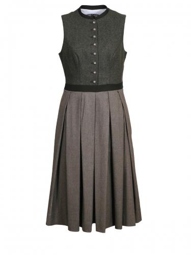 Steinbock Kleid Antonia, grün, Faltenrock
