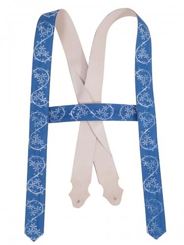 Träger Handdruck royalblau, Blaudruck, ohne Zacken