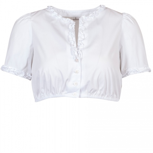 Wallmann Dirndlbluse, Rüschen, weiß, Shirtrücken
