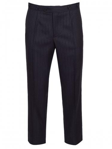 Hammerschmid Stresemannhose Inzell, schwarz,grau gestreift, elegant