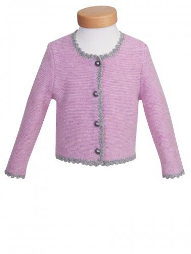 Hammerschmid Sylt Mädchen-Strickjacke, rosa-grau
