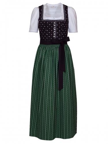 Wenger Harmony Baumwoll-Dirndl, schwarz-grün, 90cm