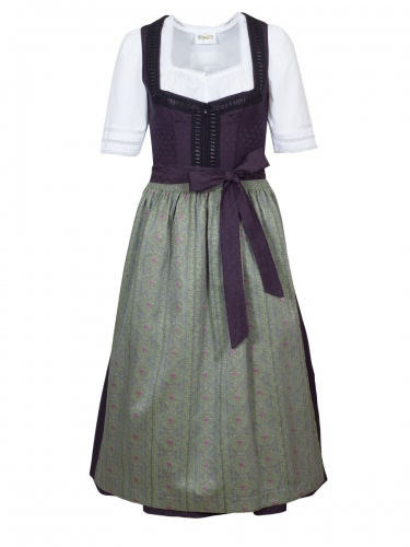 Wenger Dirndl Laura, festlich, schwarz-grün, 80cm