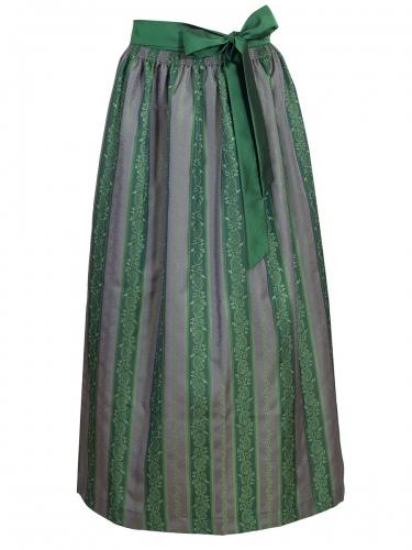 Wenger Dirndlschürze Herta grün-grau, längsgestreift, 95cm