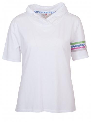 Berglilie T-Shirt Charlotte, weiß, Kapuze, Gummidruck Berglilie