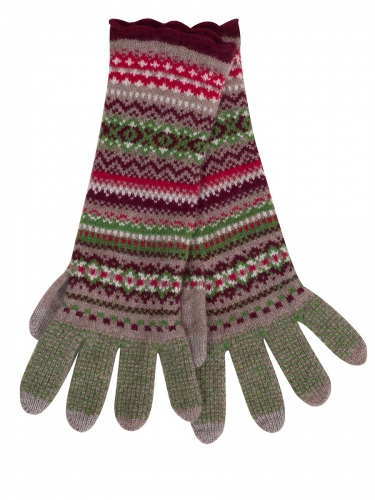 Eribè Knitwear Glove Alpine, Strickhandschuhe, watercress, grün
