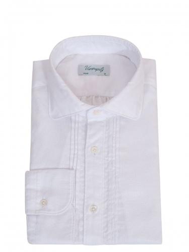 Viererspitz Herrenhemd Christoph, weiß, hochwertig verarbeitet