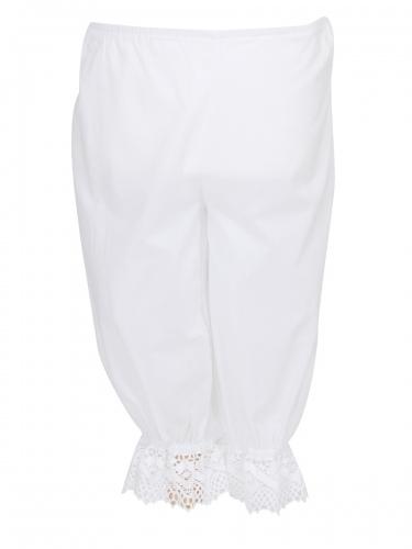 Waldorff Plattler-Unterhose weiß mit Spitze