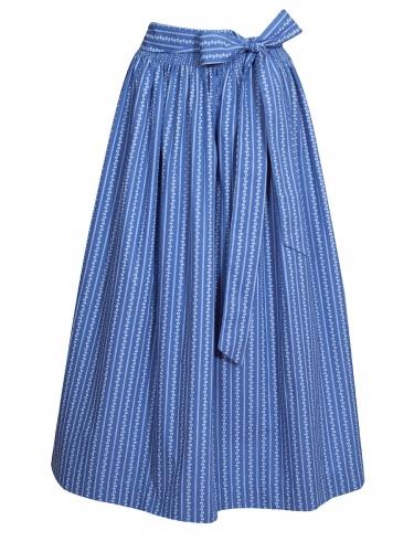 Hammerschmid Baumwollschürze blau, Rankenmuster