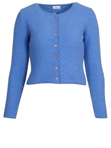 new style 087b9 80fb2 Heidi Strickjacke Ajovis, blau, Perlmuttknöpfe, in sich gemustert gestrickt