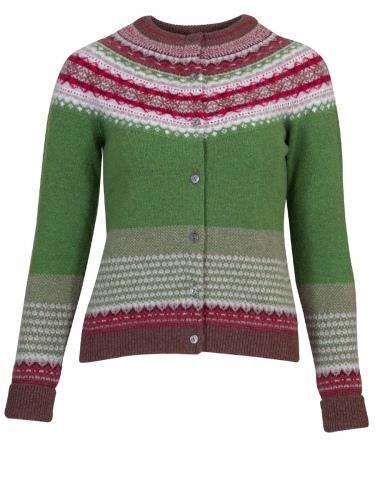 Eribè Knitwear Cardigan Alpin, Strickjacke, watercress, grün