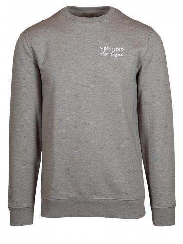 Viererspitz Cambi Sweater unisex, Flanell grün, Biobaumwolle