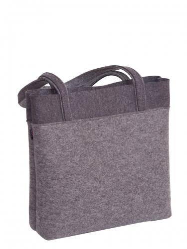 bag+Secade Hänkeltasche Coll-L, Filz, hellgrau