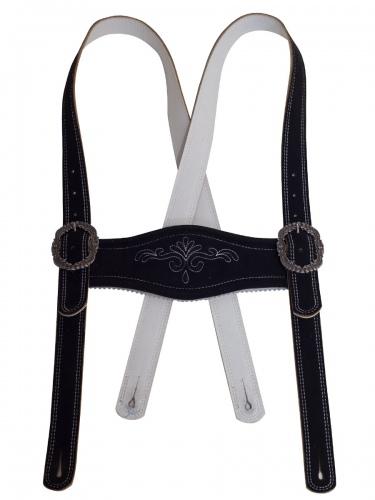 Stegträger Esterberg, Hirsch, sämina, schwarz, weißer Stick