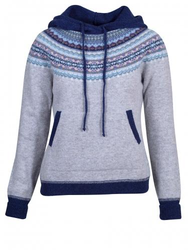 Eribè Knitwear Alpin Hoody, Pullover, artic, grau-blau, Kapuze