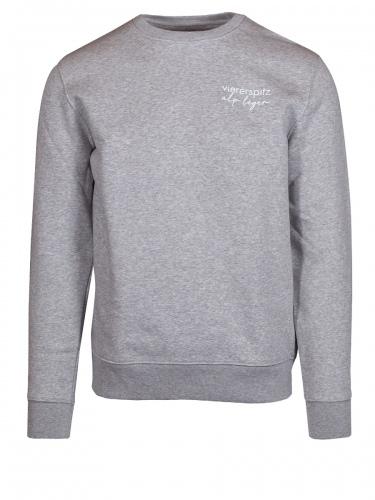 Viererspitz Cambi Sweater unisex, Flanell hellgrau, Biobaumwolle