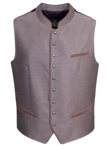 Hammerschmid Herrenweste Benni, grau-beige, schwarzer Rücken