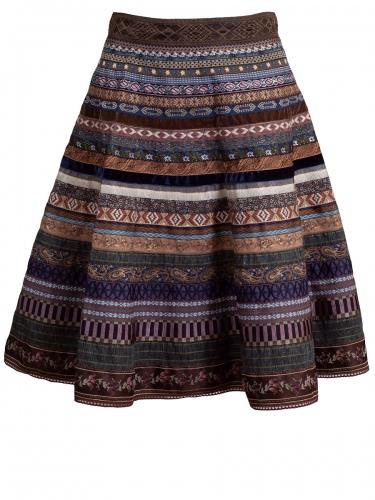 Lena Hoschek Bänderrock, Ribbon Skirt Original, mountain, verschiedene Borten