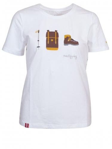 Moser Laneralm T-Shirt, weiß, Wandermotive