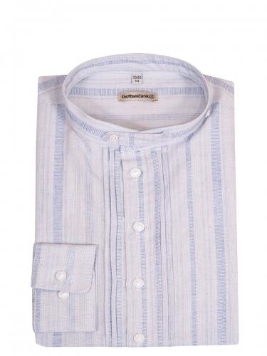 Gottseidank Trachtenhemd Pfoad, blau gestreift