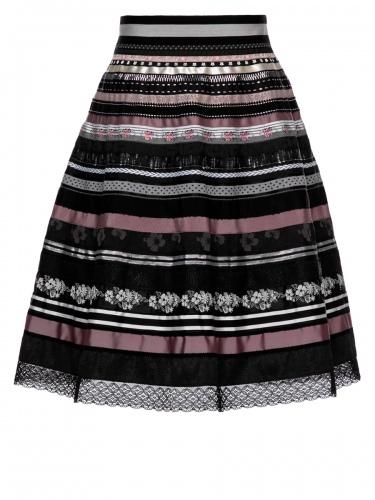 Lena Hoschek Bänderrock, Ribbon Skirt, dark desire, verschiedene Borten
