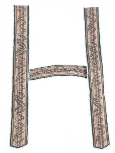 Träger Handdruck in beige-braun, 4 cm breit