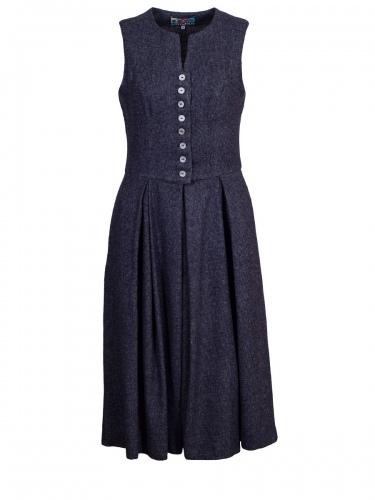 Berwin & Wolff Kleid, nachtblau. Pepitamuster