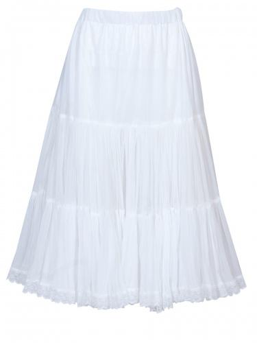 Hammerschmid Dirndl-Unterrock, Petticoat, weiß, Spitzenborte, 70cm