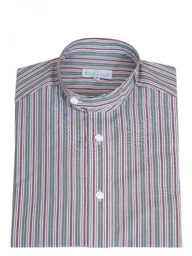Waldorff Trachtenhemd, Pfoad, tanne-braun, Stehkragen