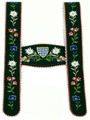 Träger Nr.2 Werdenfels grün Blume