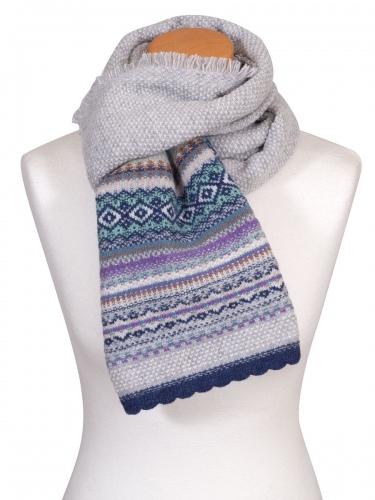 Eribè Knitwear Scarf Alpin, Strickschal, artic