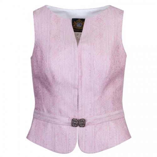Hammerschmid Gröden Spenzer, festlich, rosa, Ziergürtel mit Schließe, hochgeschlossen