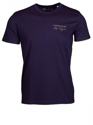 Viererspitz T-Shirt Tori unisex, french navi, Biobaumwolle