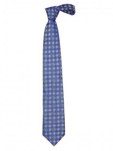 Steiner Krawatte Hirschkaro K262 blau-gras