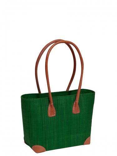 frosch & rabe Korbtasche Vero gras, kleine Handtasche