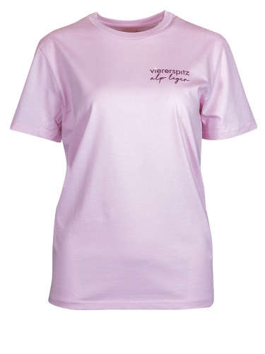 Viererspitz T-Shirt Tori, rosa, Biobaumwolle