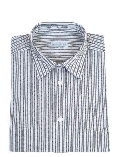 Waldorff Trachtenhemd, Pfoad, grün gestreift, Liegekragen